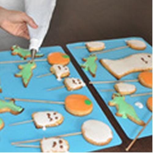 Butterkeks-Halloween-Lutscher für Leckermäuler