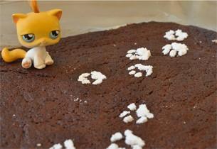 Kätzchen-Schokoladenkuchen