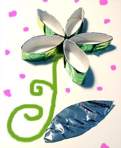 Blumenkarte zum Verschenken