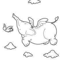 Fliegen-Elefant