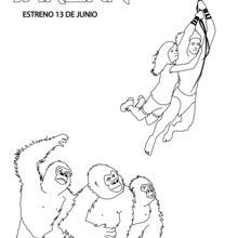 Tarzan und Jane mit Gorillas