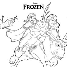 Ana, Olaf und Kristoff
