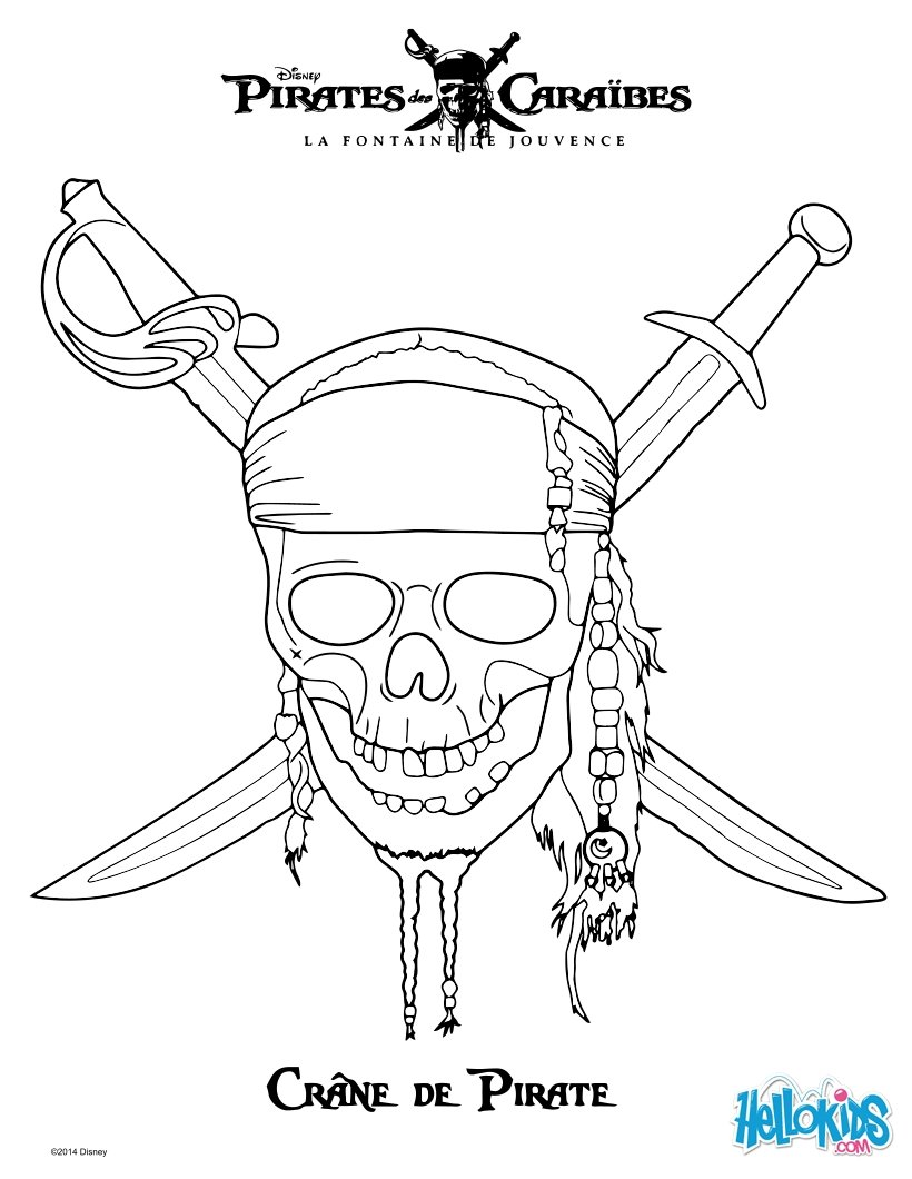 Pirates of the caribbean zum ausmalen - de.hellokids.com