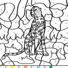 Tiger Ausmalen nach Zahlen