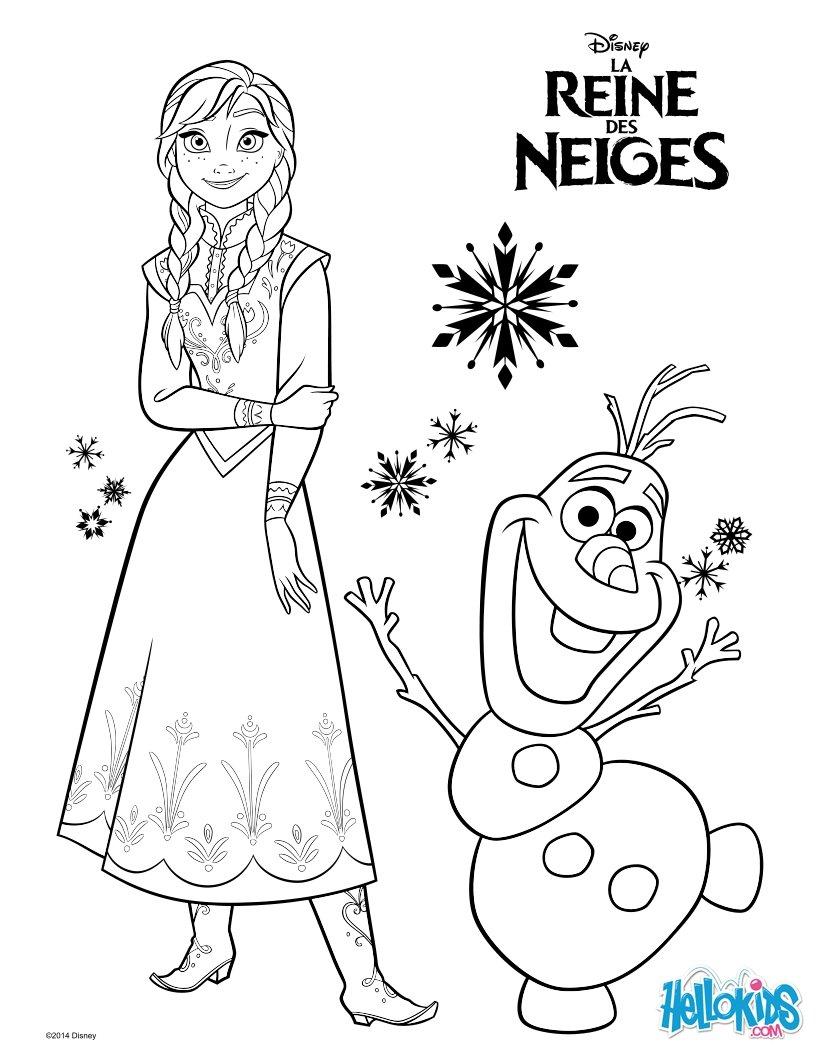 Elsa zum ausmalen - de.hellokids.com