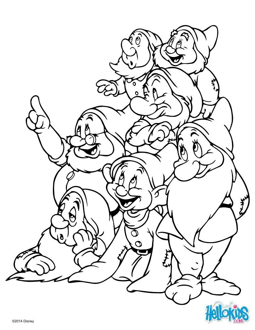 Disney Zwerge Malvorlagen ~ Die Beste Idee Zum Ausmalen von Seiten
