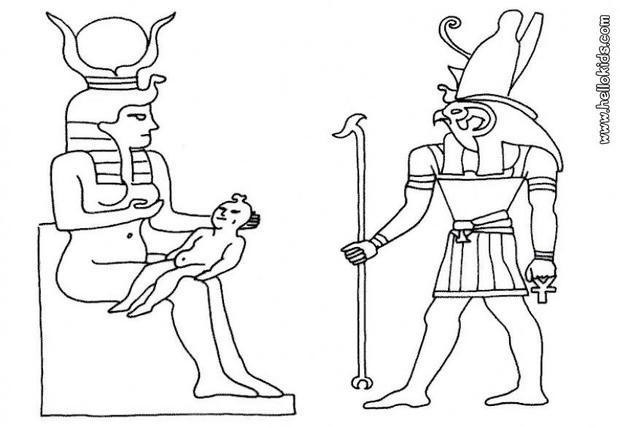 Ägyptischer gott zum ausmalen zum ausmalen - de.hellokids.com