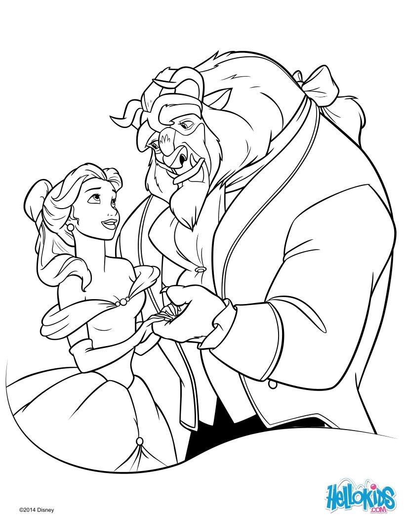 Schöne Ausmalbilder Disney : Die Sch Ne Und Das Biest Zum Ausmalen De Hellokids Com