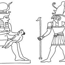 Ägyptischer Gott zum Ausmalen