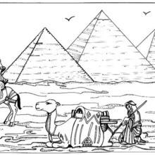 Pyramiden zum Ausmalen