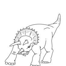 Triceratops zum Ausrücken