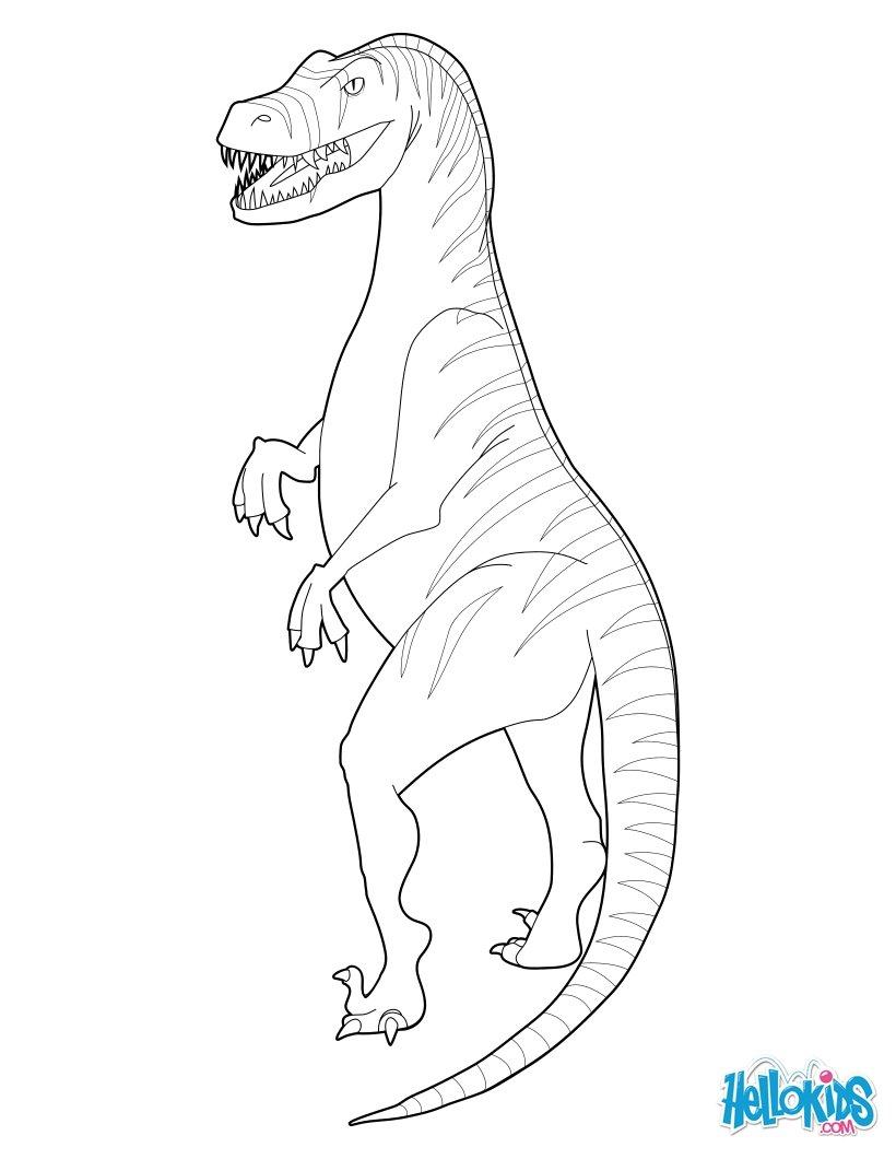 ausmalbilder dinosaurier raptor - kostenlos zum ausdrucken