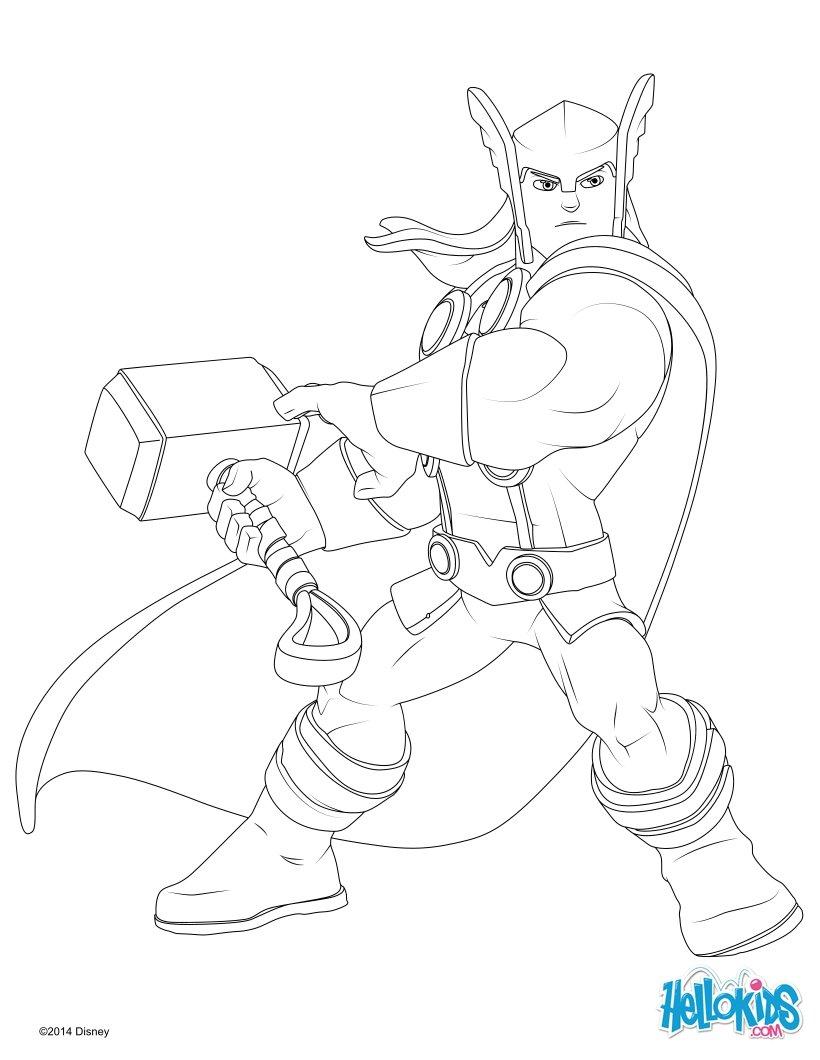 Thor zum ausmalen - de.hellokids.com