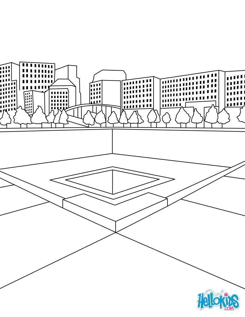 Empire state building zum ausmalen zum ausmalen de hellokids com - Ground Zero North