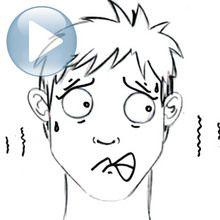 Zeichnen Sie einen Gesichtsausdruck: Furcht