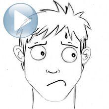 Zeichnen Sie einen Gesichtsausdruck: Angst