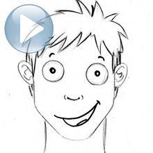 Zeichnen Sie einen Gesichtsausdruck: Freude