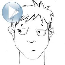 Zeichnen Sie einen Gesichtsausdruck: Gleichgültigkeit