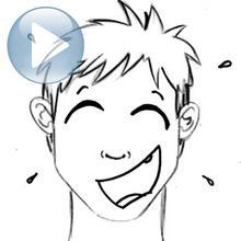 Zeichnen Sie einen Gesichtsausdruck: Lachen