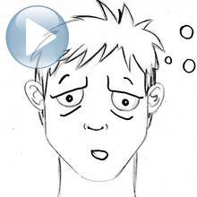 Zeichnen Sie einen Gesichtsausdruck: Müdigkeit
