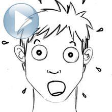 Zeichnen Sie einen Gesichtsausdruck: Überraschung