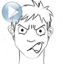 Zeichnen Sie einen Gesichtsausdruck: Zorn