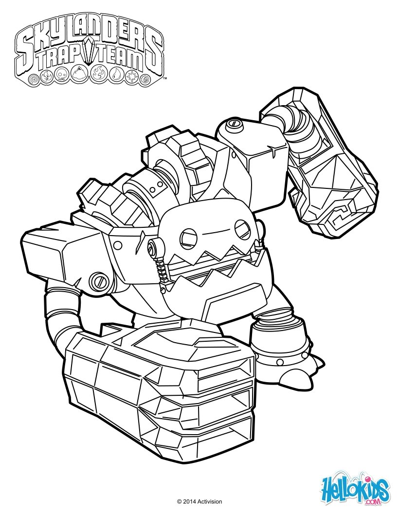 Skylander Swap Force Coloring Pages - Coloring Pages Kids 2019 | 1060x820