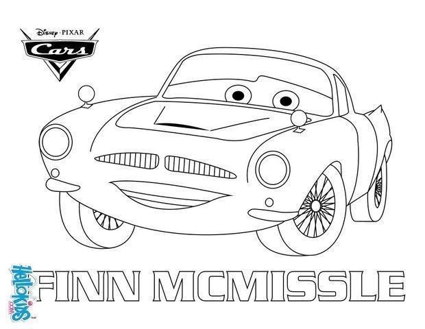 ausmalbilder cars finn mcmissile  ausmalbilder