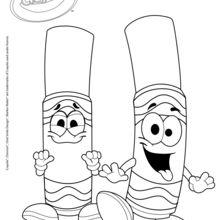 Zwei Crayola Marker