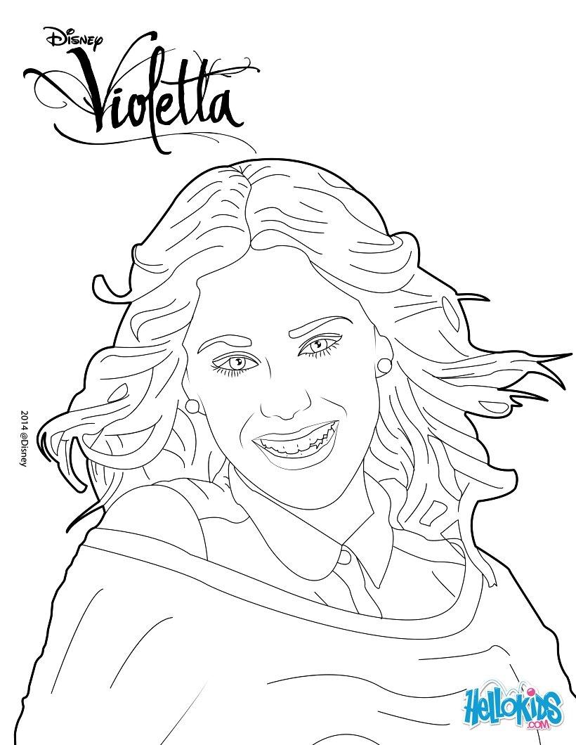 Violetta macht einen shooting foto zum ausmalen - Dessin a imprimer violetta ...