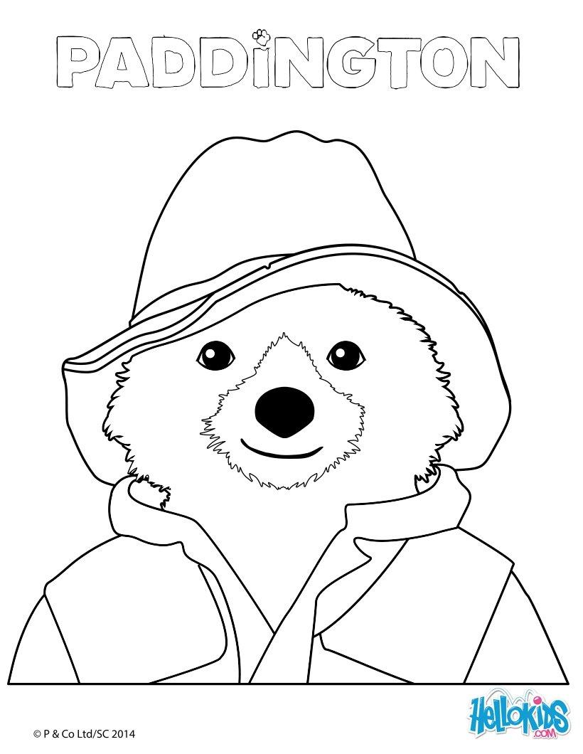 Медвежонок паддингтон раскраски