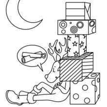 Christmas Reindeer schlafen