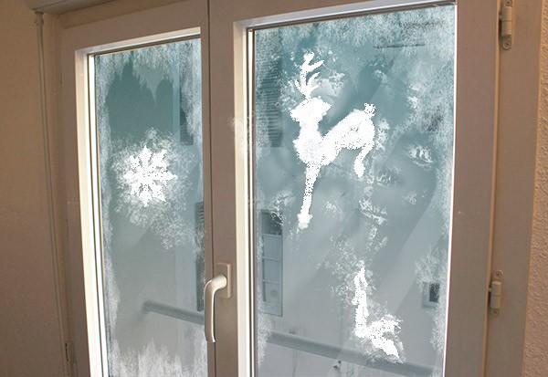 Weihnachts-Fensterschablonen