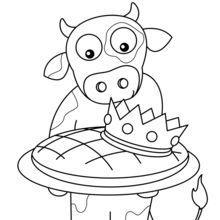 Eine Kuh und Dreikönigskuchen