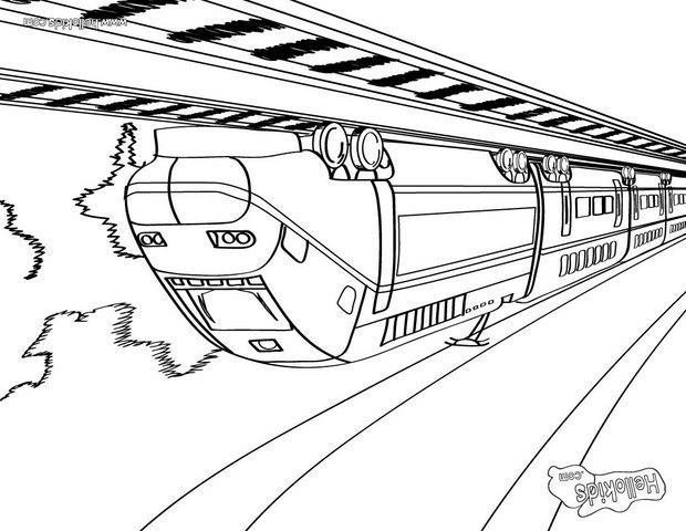Großer Zug Zum Ausmalen Zum Ausmalen Dehellokidscom