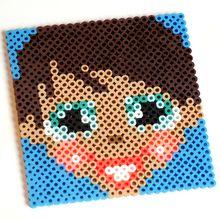 Yodimi Mädchen - Muster aus Bügelperlen