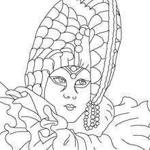 Venezianische Kopfbedeckung zum Ausmalen