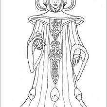 Königin Amidala zum Ausmalen