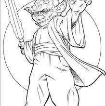 Yoda mit einem Schwert