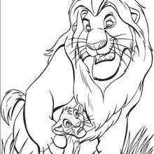 Mufasa der König der Löwen mit Simba
