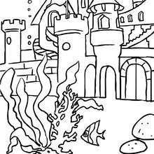 Das Königreich der Meerjungfrau zum Ausmalen