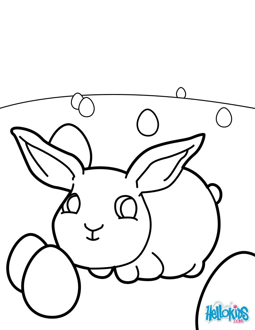Baby osterhasen zum ausmalen - Coloriage lapin paques ...