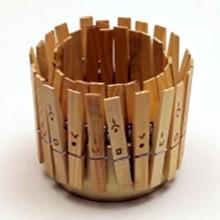 Pot Bleistift mit Wäscheklammern