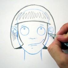Zeichnen Sie eine Frisur: Das Quadrat