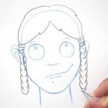 Zeichnen Sie eine Frisur: Die flechten