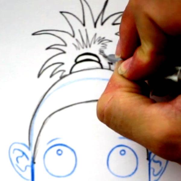 Zeichnen Sie eine Frisur: Die Pferdeschwanz