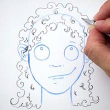 Zeichnen Sie eine Frisur: Locken