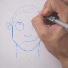 Zeichnen Haare: Rasiert