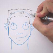 Zeichnen Sie eine Frisur: Die Bürstenschnitt