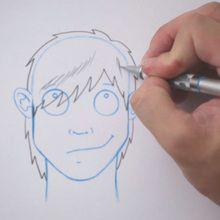 Zeichnen Sie eine Frisur: Emo